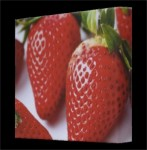 Framed Canvas Strawberry Print