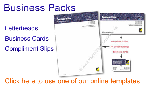 Online Templates for Business Packs